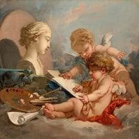 פרנסואה בושה (1703-177), אלגוריה לציור, מוזיאון הארמיטאז', סנט פטרסבורג