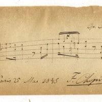 תווים בכתב ידו של שופן, 1845