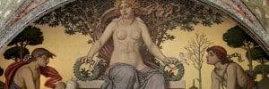 """""""שלום ושגשוג"""" מאת הצייר האמריקאי אליהו ודר 1896. העבודה תלויה בקונגרס האמריקאי בוושינגטון די. סי."""