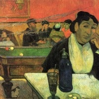 אשה שותה