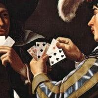 ״שחקני בקלפים״ מאת הציר הפלמי מהמאה ה-17 תיאודור רומבוטס