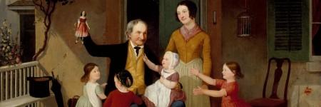 ״ביקור מסבא״, מאת ג׳יימס גודווין קלוני, בסביבות 1850