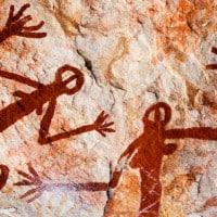 ציורי קיר אבוריג׳ינים בפארק הלאומי קאקודו, אוסטרליה. צילוםף גטי אימג׳ס
