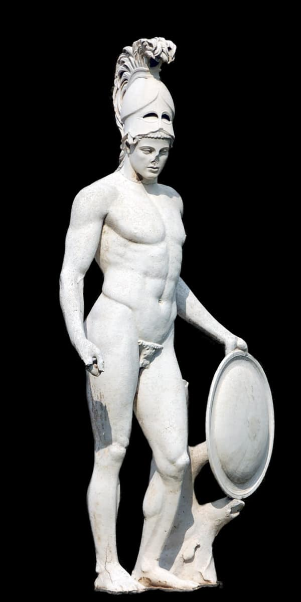 פסל ארס, אל המלחמה היווני, בווילה הדריאנה
