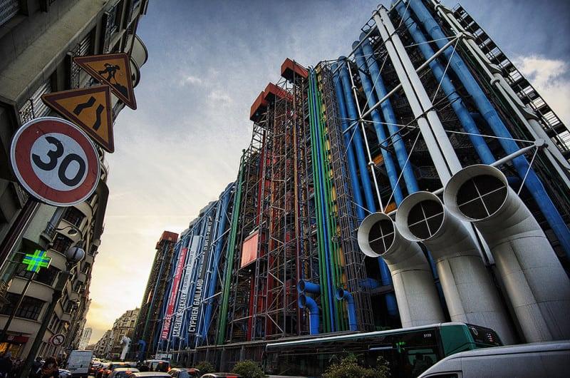 מרכז פומפידו, פריז. צילום: אל ריצ׳רדסון