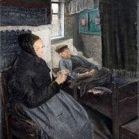 איש חולה, לוריץ אנדרסון רינג, צייר דני