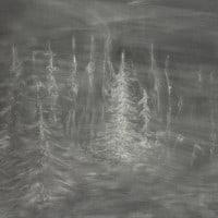 אלה ליטביץ,  no place, good place, 2014 Chalk on Blackboard, 105x150 cm
