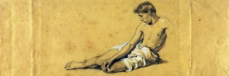 ציור של גבר במגבת