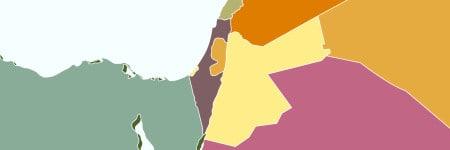 מפה של המזרח התיכון באדיבות גטי אימג׳ס