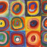 Squares with Concentric Circles, 1913 מאת וסילי קנדינסקי.