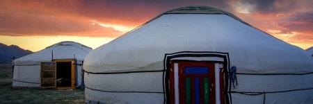 מחנה אוהלים במונגוליה