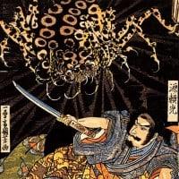 ראיקו מיוסר על ידי עכביש האדמה