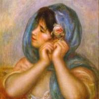"""רנואר, """"אישה צעירה עונגת עגיל"""""""