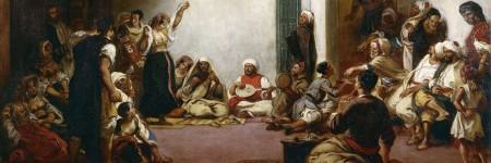 """""""חתונה יהודית במרוקו"""", איז'ן דלקרואה, 1839"""
