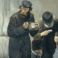 """""""הרעבים"""", ז'אן-ז'ול ז'פרואה (Jean Jules Geoffroy)."""