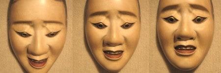 מסכות תאטרון יפני נו