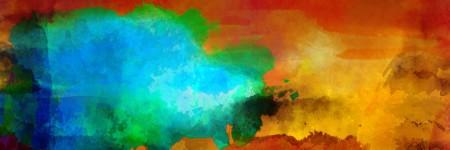 מופשט עם כתמי צבע