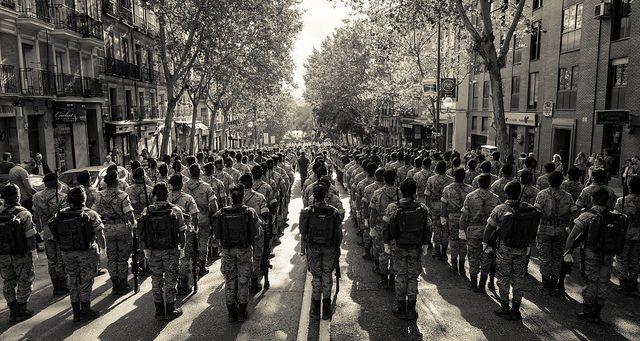 מצעד צבאי, מדריד, ספרד