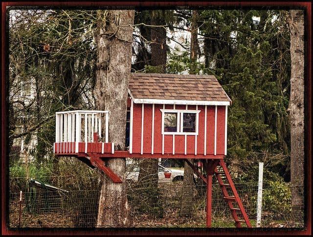 בית עץ, בית על עץ