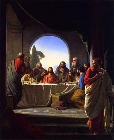 הסעודה האחרונה, יהודה איש קריות, קרן היינריך בלוך