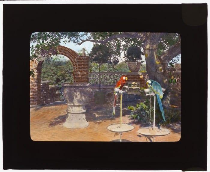 """פרנסיס ג'ונסטון, """"האינטרוברט והאקסטרוברט: מרפסת ביתו של המשורר"""", 1920. תמונה באדיבות ספריית הקונגרס האמריקאי"""