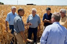 אובמה וחקלאים
