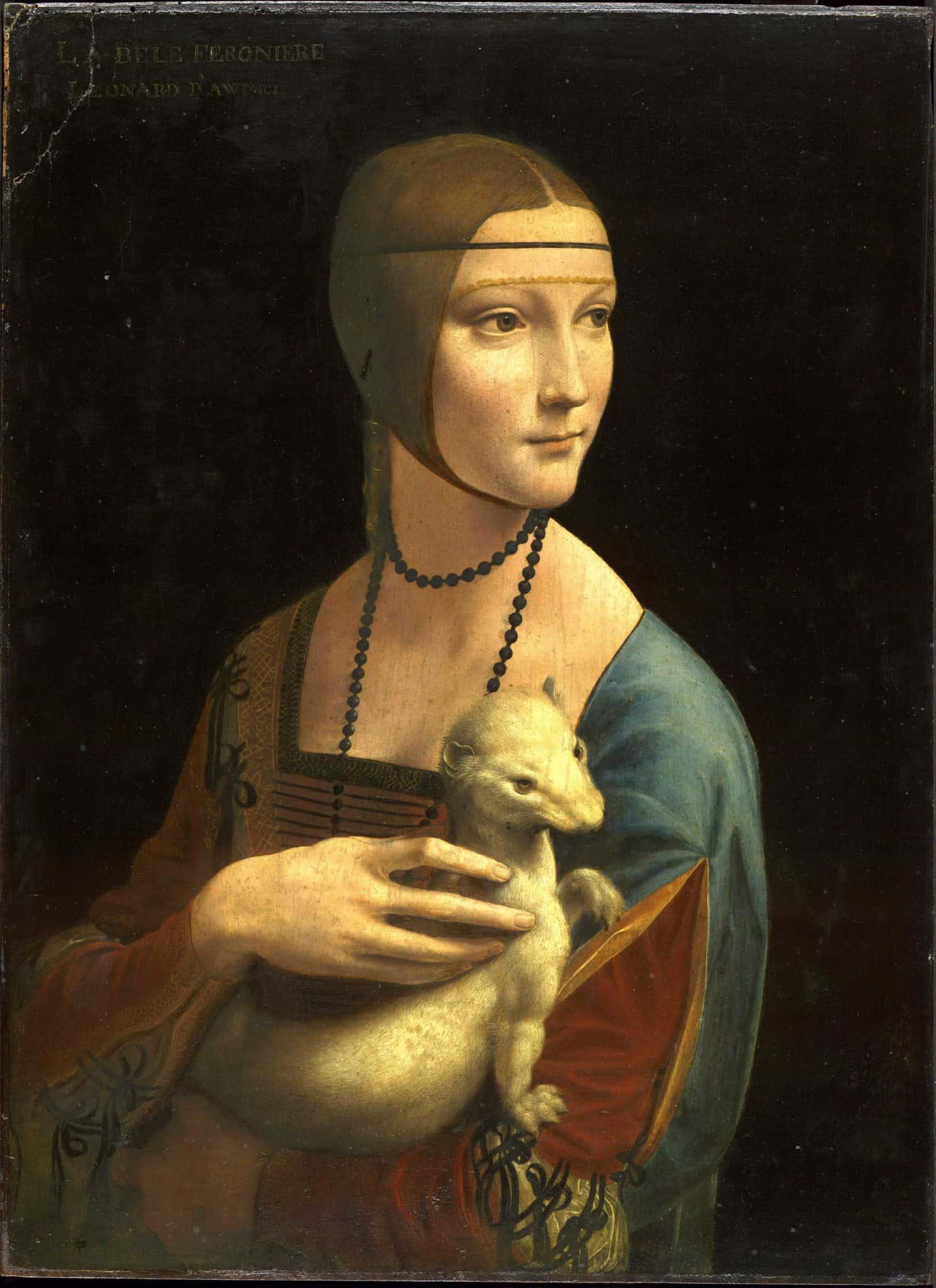 """ליאונרדו דה וינצ'י, """"הגבירה עם החמוס"""", 1487-1490"""