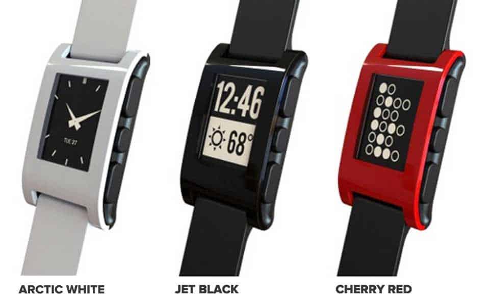 דגמים של שעוני Pebble