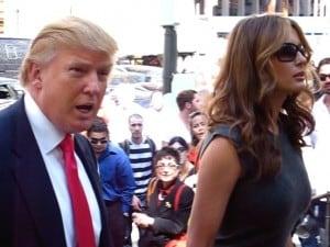 טראמפ ואשתו מלניה. צילום: בוס טוויד
