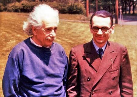 אלברט איינשטיין וקורט גדל בקמפוס של אוניברסיטת פרינסטון