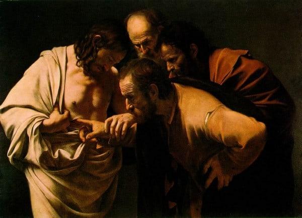 """ציורו של קראוואג'יו """"תומאס הספקן"""""""