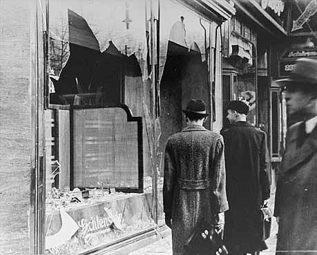 נזק שנגרם לרכוש יהודי בליל הבדולח, נובמבר 1938