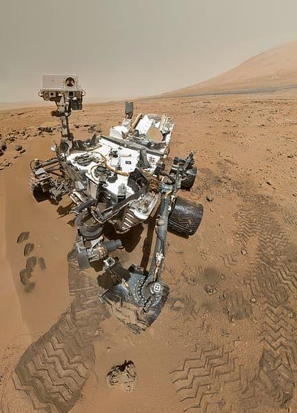 """החללית קיוריוסיטי על מאדים. צילום: נאס""""א"""
