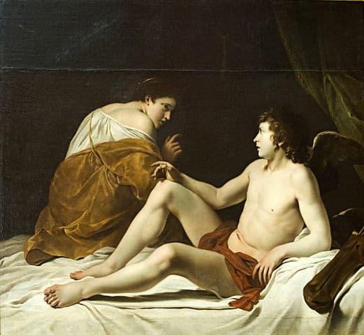 פסיכה וקופידון. אורציו ג'נטילצ'י, המאה ה-17