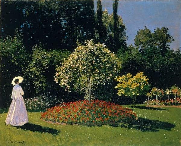 """""""אשה בגינה"""" 1867, מאת קלוד מונה"""