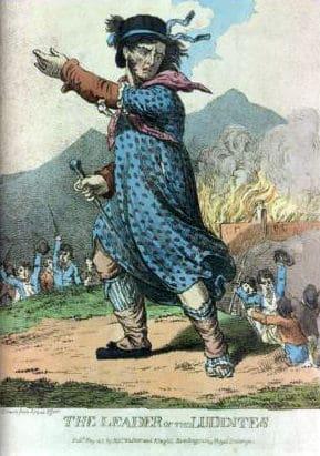 """""""מנהיג הלודיטים"""". פורסם ב-1812."""