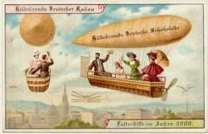 גלויה שפרסמה חברת שוקולד גרמנית, בסביבות 1900