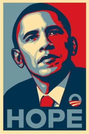 כרזת בחירות של ברק אובמה ב-2008