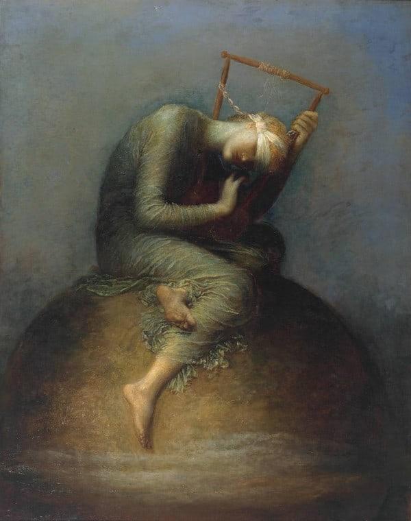 """""""תקווה"""", ציורו המפורסם של ג'ורג' פרדריק ווטס מ-1886"""
