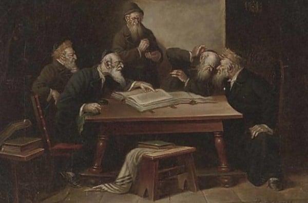 רבנים מתווכחים מאת ב. וורנר