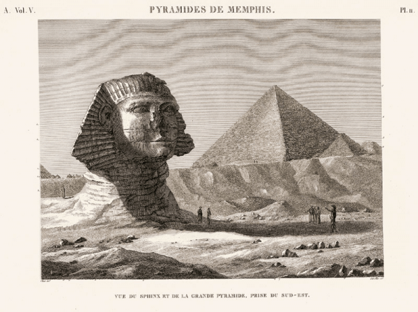 איור מתוך Description de l'Egypte 1823