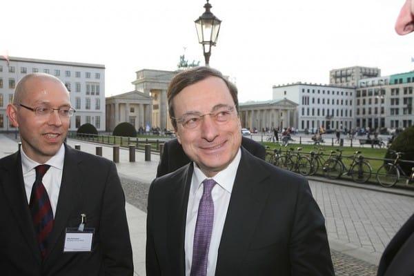 נשיא הבנק המרכזי של אירופה מריו דראגי בברלין
