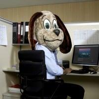 כלב ומחשב