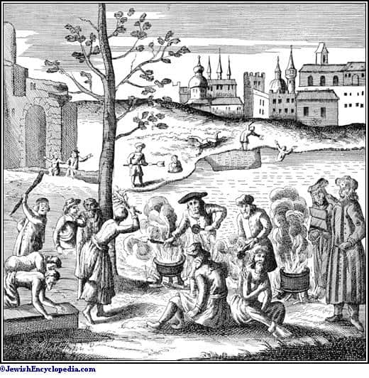 ציור דמיוני של עינויים וסיגופים שקיבלו על עצמם מאמיני שבתי צבי לכפר על עוונותיהם