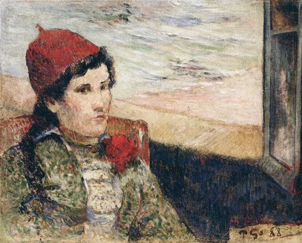 אישה מול חלון, פול גוגאן, 1888