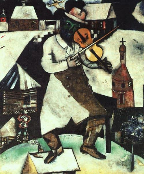 """""""הכנר"""" מאת מארק שאגאל"""