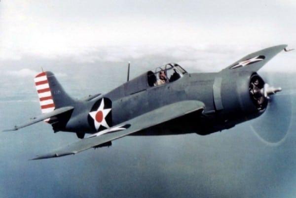מטוס מדגם F4F-3 ב-1942