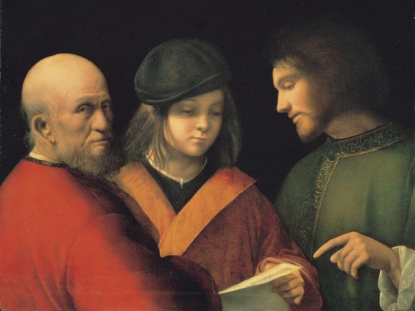 """""""שלושת העידנים של האדם"""", מאת הצייר ג'ורג'ונה, 1500"""
