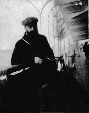 בנימין זאב הרצל בדרכו לביקור בפלשתינה ב-1898