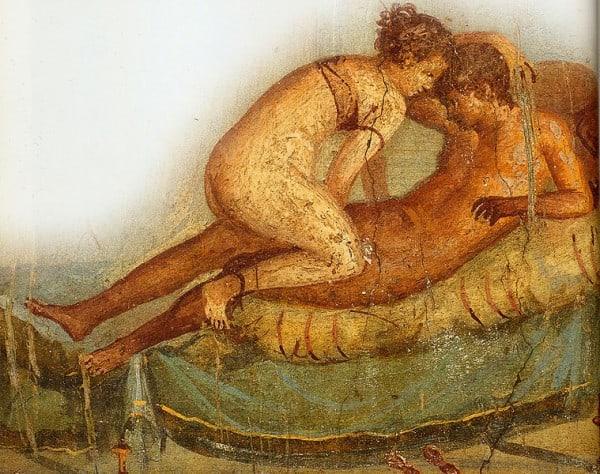איור קיר מפומפיי, במאה ה-1 לספירה.